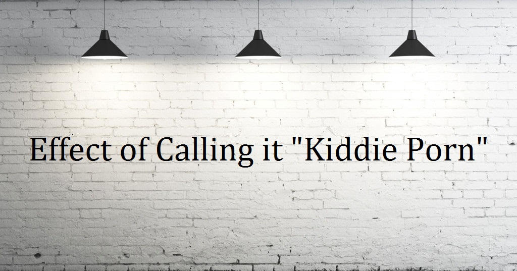 Image of white wall with lights with Effec of Calling it Kiddie porn writteb