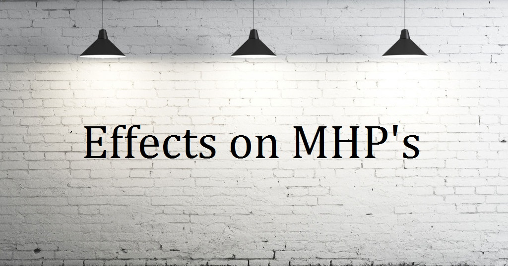 Image of white wall with lights with effect on MHPs written