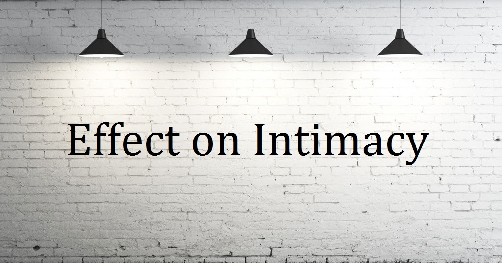 Image of white wall with lights with effect on intimacy written